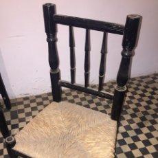 Antigüedades: SILLA DE MADERA TORNEADA ANTIGUA. Lote 124543732
