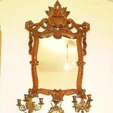 Antigüedades: RECIBIDOR MADERA ESTILO BARROCO. Lote 124549019