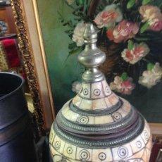 Antigüedades: ANTIGUO TIBOR EN HUESO Y METAL.. Lote 124561147