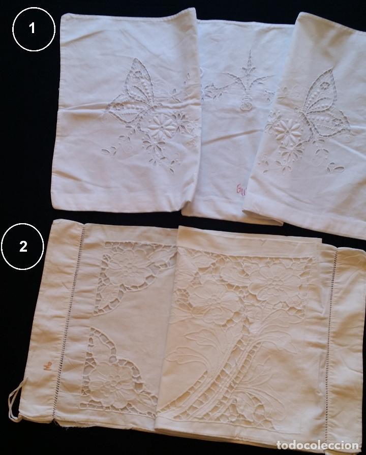 Antigüedades: Dos antiguas fundas – bordados modernistas. - Foto 3 - 124566003