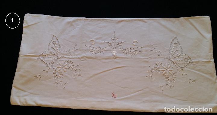 Antigüedades: Dos antiguas fundas – bordados modernistas. - Foto 4 - 124566003