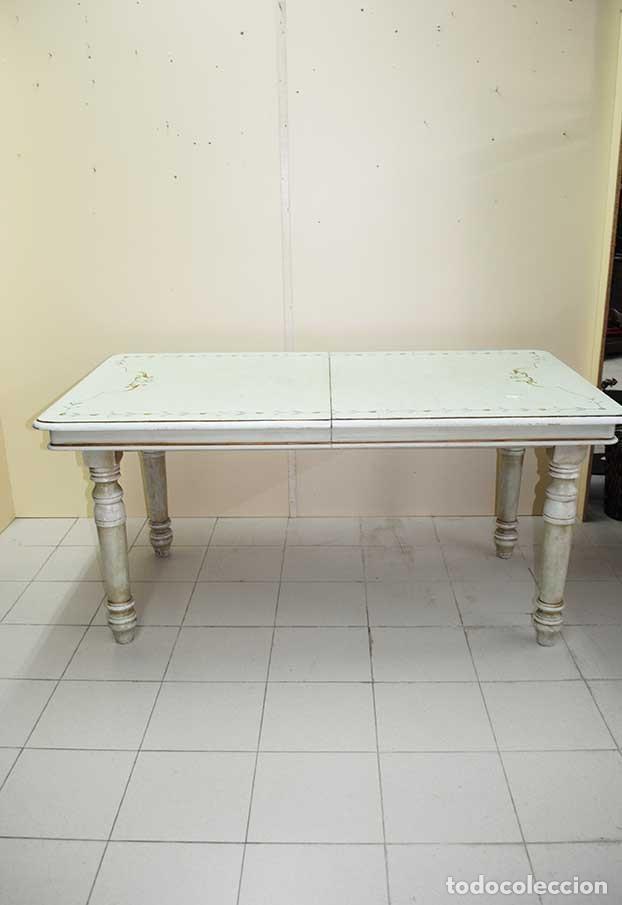 antigua mesa de cocina madera patinada verde ag - Kaufen Antike ...