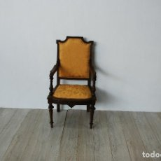 Antigüedades: SILLÓN CASTELLANO EN ROBLE. Lote 124589963