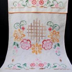 Antigüedades: TOALLA ANTIGUA BORDADA. Lote 124590551