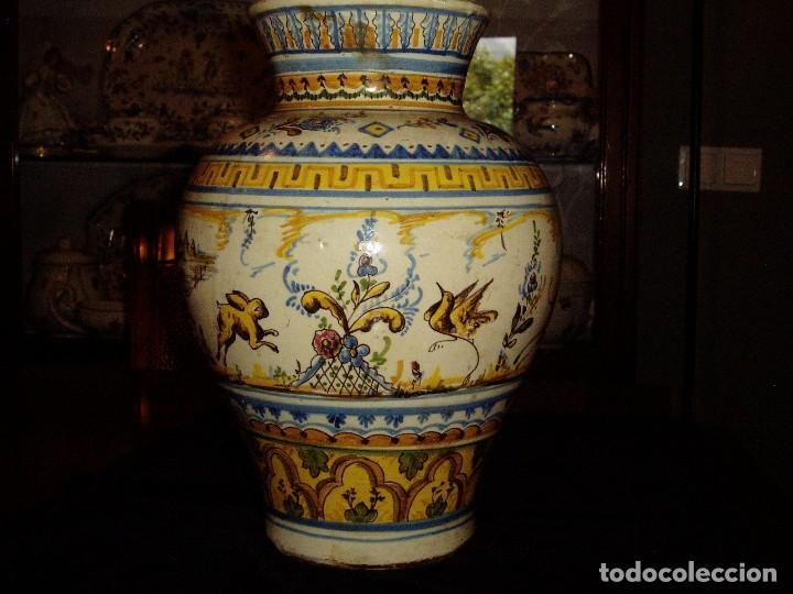 JARRÓN TIESTERO DE SEVILLA SIGLO XVIII (Antigüedades - Porcelanas y Cerámicas - Triana)