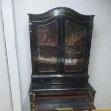Antigüedades: MUEBLE ESCRITORIO CON VITRINA - LUIS FELIPE, FRANCIA - MADERA DE CAOBA, EBONIZADA - S. XIX. Lote 131157440