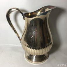 Antigüedades: JARRA METAL PLATEADO CON SELLO 19X23 RAJ1. Lote 124633899