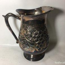 Antigüedades: JARRA METAL PLATEADO CON SELLO 22X19 RAJ1. Lote 124634034