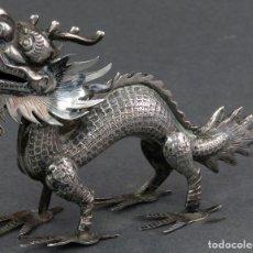 Antiquités: DRAGON CHINO EN PLATA SIGLO XX. Lote 124637359