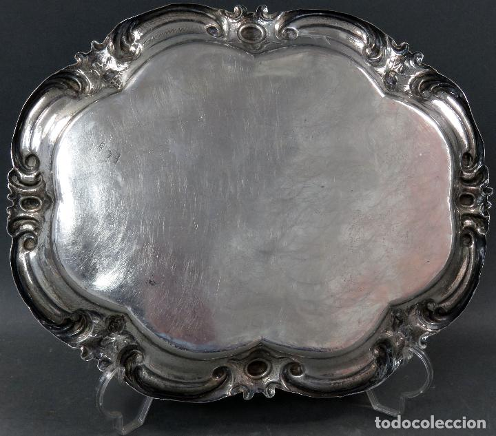 Antigüedades: Bandeja en plata punzonada Barcelona siglo XX - Foto 5 - 124646551