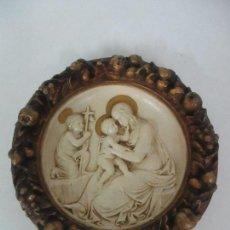 Antigüedades: BONITO PLAFÓN RELIGIOSO - EN RELIEVE DORADO - VIRGEN - TALLERES DE OLOT - PRINCIPIOS S. XX. Lote 124647227