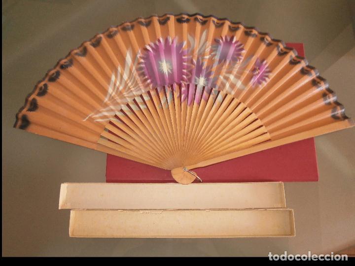 Abanico de papel pintado a mano barillaje de m comprar abanicos antiguos en todocoleccion - Papel pintado a mano ...
