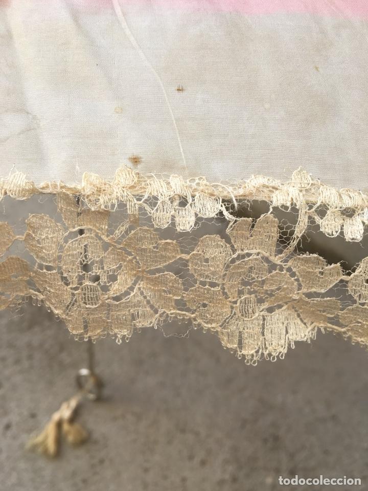 Antigüedades: ANTIGUA SOMBRILLA DE SEDA PINTADA - SIGLO XIX - Foto 6 - 124648968