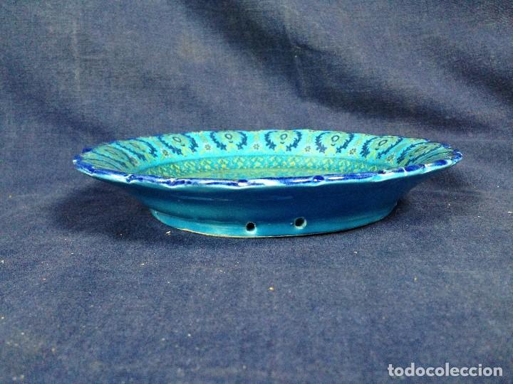 Antigüedades: decorativo plato colgar siria turquia ceramica vidriada egipto mitad s XX no marca fabricante 18,5cm - Foto 9 - 130906456