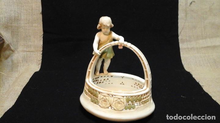 CENTRO DE MESA EN PORCELANA AUSTRÍACA .1910 -20 ROYAL VIENNA WAHLISS .IMPECABLE (Antigüedades - Porcelana y Cerámica - Alemana - Meissen)