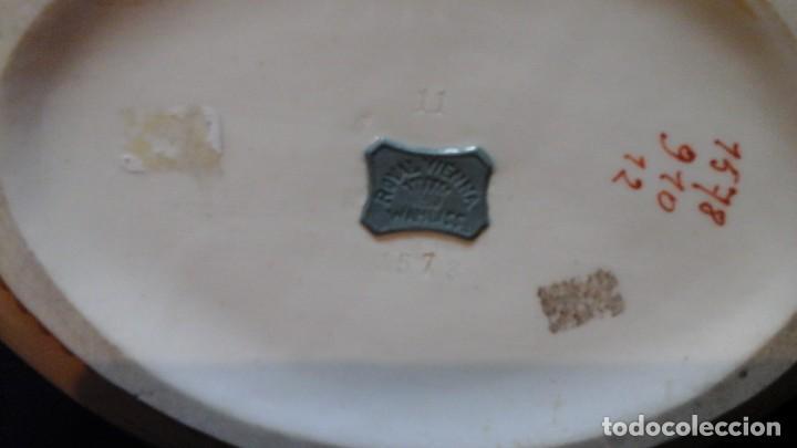 Antigüedades: Centro de mesa en porcelana austríaca .1910 -20 Royal Vienna Wahliss .Impecable - Foto 10 - 124683243