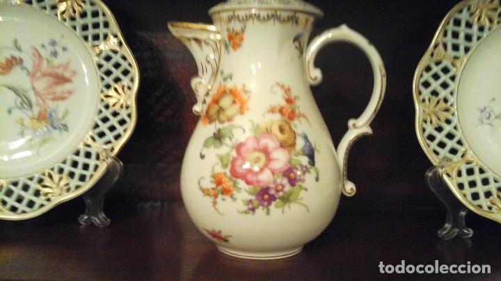TETERA PINTADA A MANO ,FINALES SIGLO XIX . MARCADA TIEFENFURT (GERMANY) (Antigüedades - Porcelana y Cerámica - Alemana - Meissen)