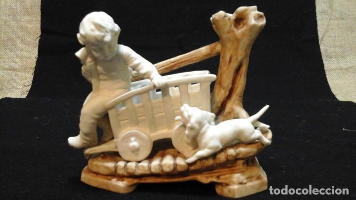 BISCUIT-FLORERO DE PPIOS SIGLO XX .MARCADO (Antigüedades - Porcelana y Cerámica - Alemana - Meissen)