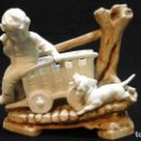 Antigüedades: BISCUIT-FLORERO DE PPIOS SIGLO XX .MARCADO . Lote 124684375