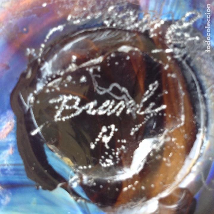Antigüedades: Raymond Branle, Jarrón de cristal iridiscente firmado - Foto 8 - 124858172