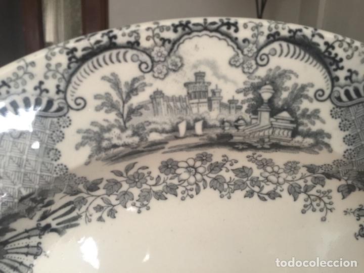 Antigüedades: Fuente la cartuja pickman semichina muy buen estado 34 de diámetro - Foto 3 - 124882562