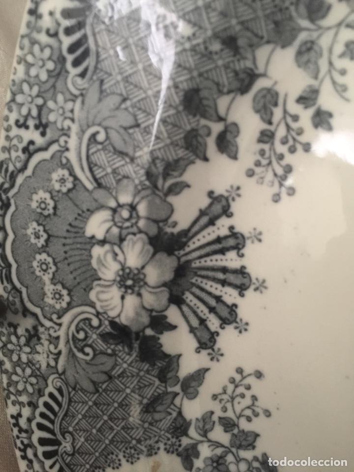 Antigüedades: Fuente la cartuja pickman semichina muy buen estado 34 de diámetro - Foto 5 - 124882562