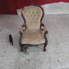 Antigüedades: SILLON EN MADERA DE NOGAL. Lote 124901135