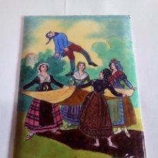 Antigüedades: CHAPA ESMALTADA AL FUEGO REPRESENTAN CUADROS. Lote 124906451