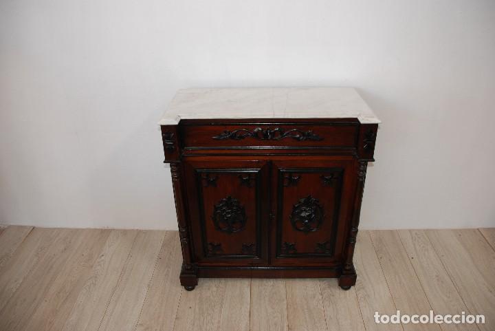 RECIBIDOR-APARADOR ANTIGUO CON TAPA DE MARMOL (Antigüedades - Muebles Antiguos - Aparadores Antiguos)