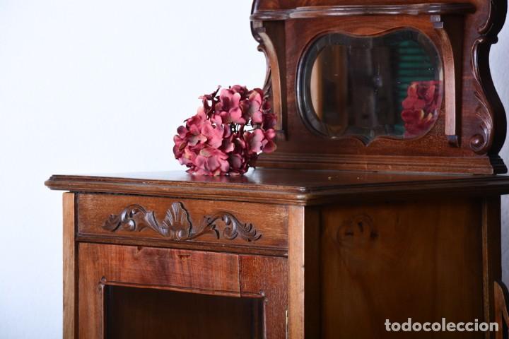 Antigüedades: Mueble auxiliar de comedor - Vitrina expositor Art Nouveau - Foto 3 - 124935547