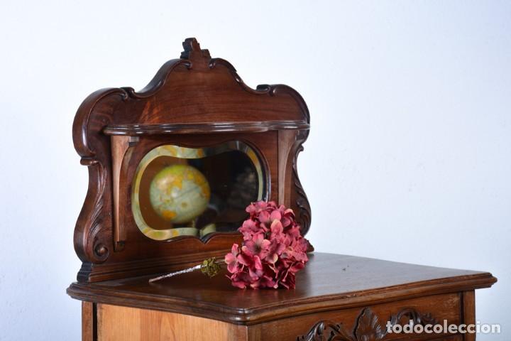 Antigüedades: Mueble auxiliar de comedor - Vitrina expositor Art Nouveau - Foto 9 - 124935547