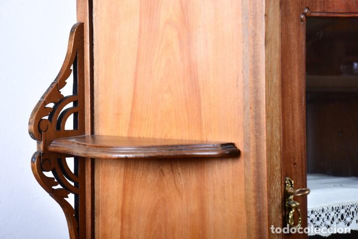 Antigüedades: Mueble auxiliar de comedor - Vitrina expositor Art Nouveau - Foto 10 - 124935547