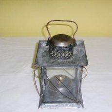Antigüedades: ANTIGUO FAROL CON QUEMADOR DE ACEITE.. Lote 124957527