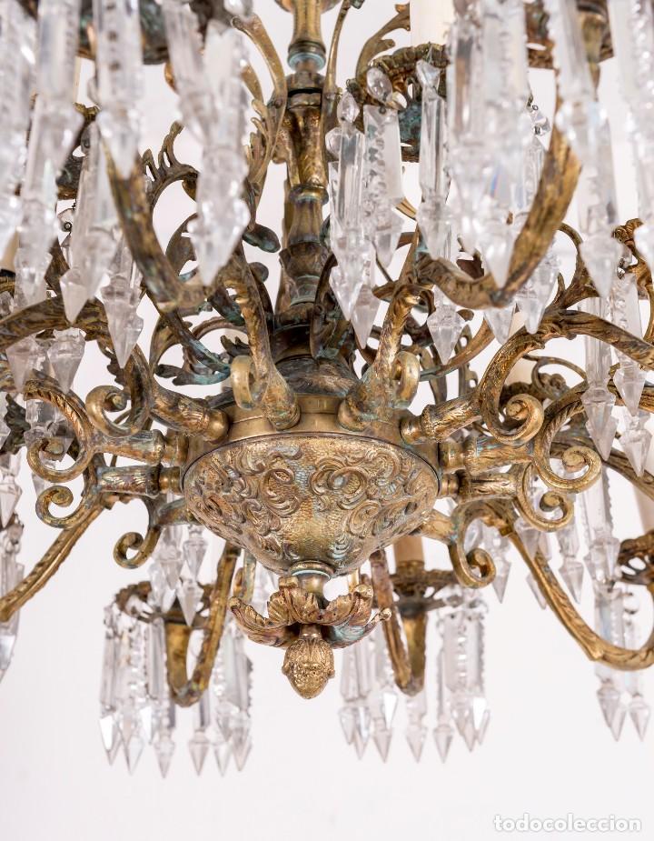 Antigüedades: Lámpara De Techo Antigua - Foto 2 - 124969459