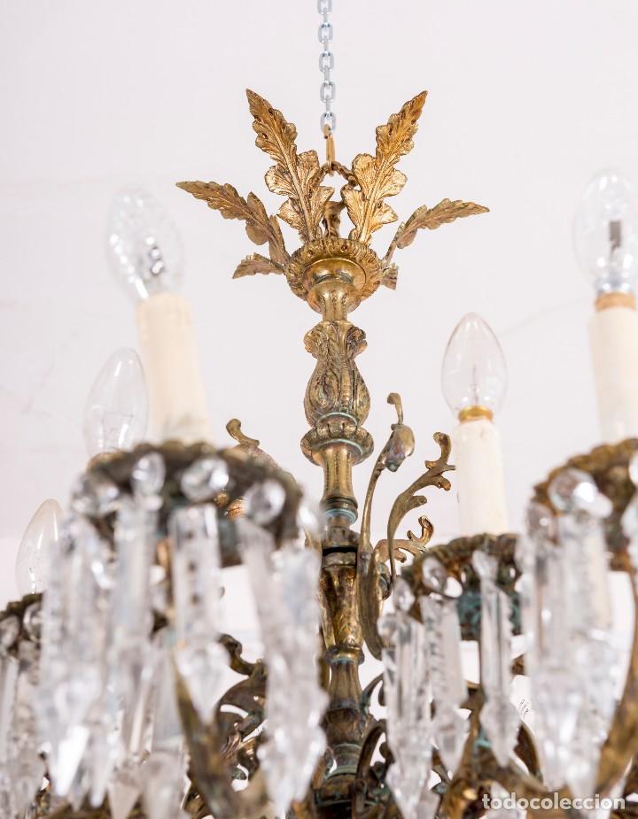 Antigüedades: Lámpara De Techo Antigua - Foto 3 - 124969459
