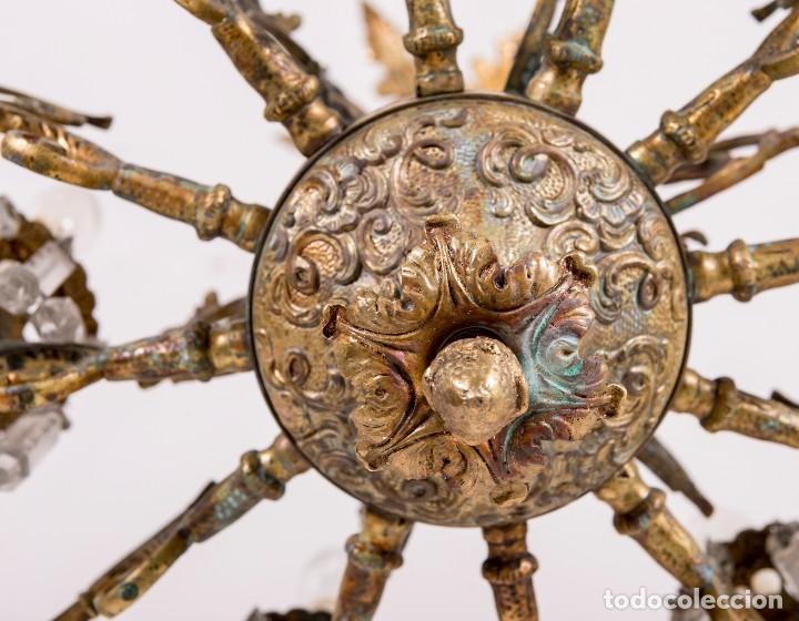 Antigüedades: Lámpara De Techo Antigua - Foto 4 - 124969459
