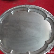 Antigüedades: BANDEJA DE METAL PLATEADO NUEVA A ESTRENAR. Lote 124972183