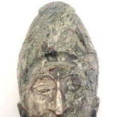 Antigüedades: ESCILTURA TIPO MÁSCARA DE MÁRMOL DE PAKAL K'INICH JANAAB'(23 DE MARZO DE 603 - 28 DE AGOSTO DE 683). Lote 125014639