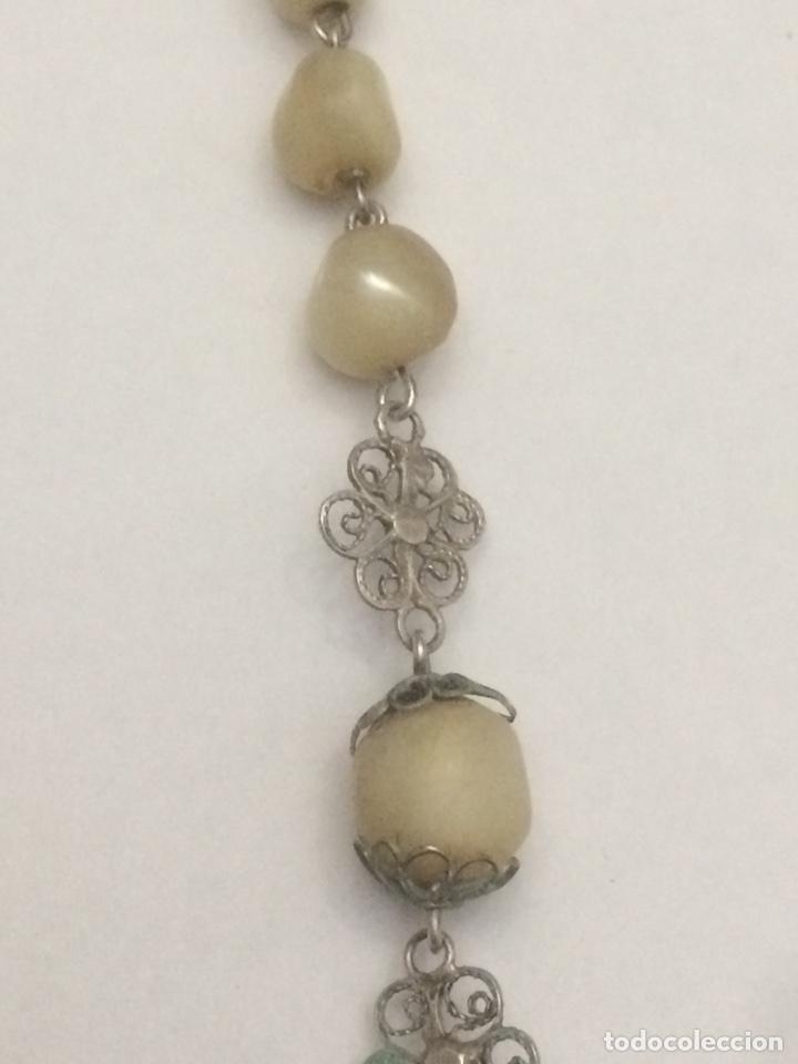 Antigüedades: Antiguo Rosario madre perla - Foto 5 - 125014846
