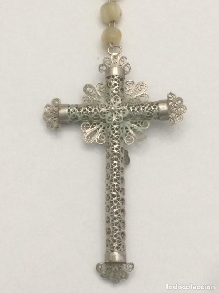 Antigüedades: Antiguo Rosario madre perla - Foto 6 - 125014846