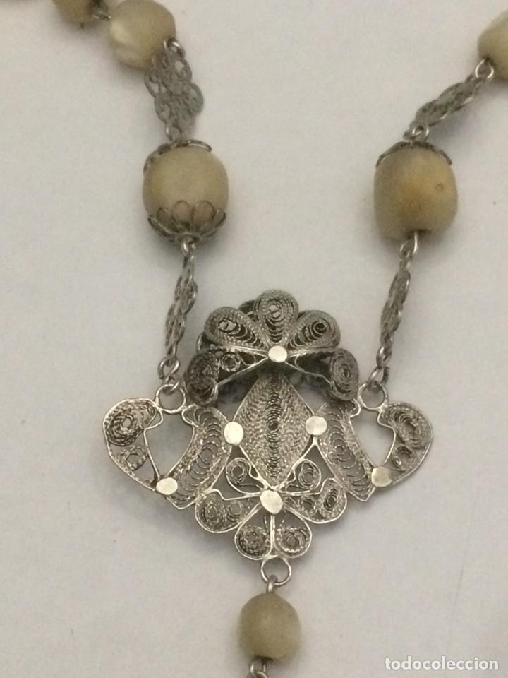 Antigüedades: Antiguo Rosario madre perla - Foto 7 - 125014846