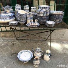 Antigüedades: EXCEPCIONAL VAJILLA DE TALAVERA, 100 PIEZAS. Lote 125025603