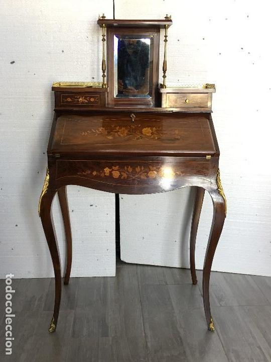 Antigüedades: ANTIGUO ESCRITORIO LUIS XV - Foto 2 - 125041111