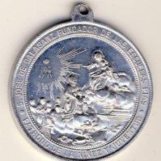Antigüedades: PERFECTA GRAN MEDALLA DE SAN JOSE DE CALASANZ FUNDADOR DE LAS ESCUELAS PIAS.-ALUMINO 40 MM.. Lote 125049483