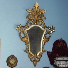 Antigüedades: ** PRECIOSA CORNUCOPIA ANTIGUA EN MADERA TALLADA Y PANDE ORO SIGLO XVIII / XIX **. Lote 125050211
