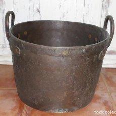 Antigüedades: OLLA DE COBRE SIGLO XIX. Lote 125068991