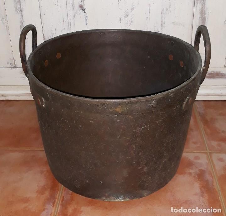 Antigüedades: OLLA DE COBRE SIGLO XIX - Foto 2 - 125068991