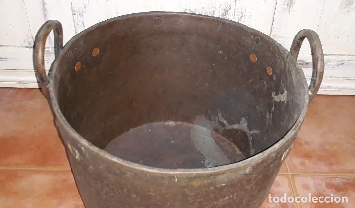 Antigüedades: OLLA DE COBRE SIGLO XIX - Foto 3 - 125068991