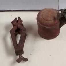 Antigüedades: LOTE 5 UTENSILIOS O HERRAMIENTAS RARAS Y VARIADAS. HOGAR Y CABALLERIAS. Lote 125071671