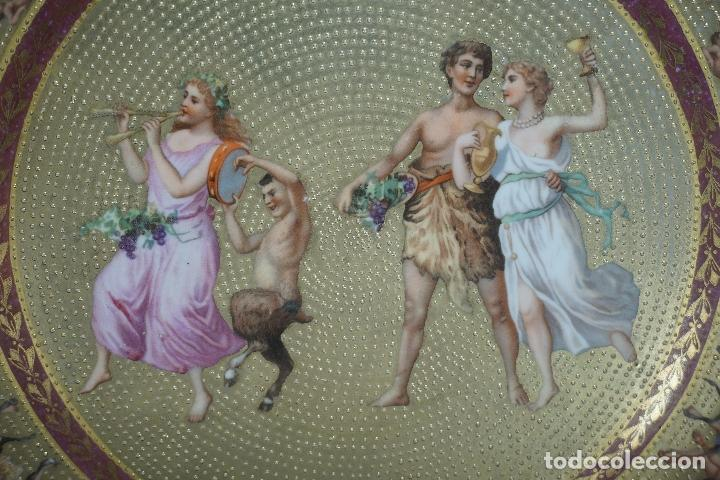 Antigüedades: PLATO PORCELANA. VIENA. AUSTRIA. SIGLO XIX-XX. - Foto 4 - 125072335